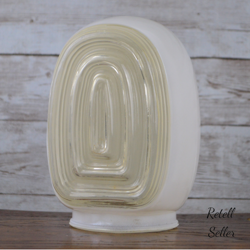 Small Vintage Art Deco Styled Porch or Hallway Glass Light Cover - Retell Seller