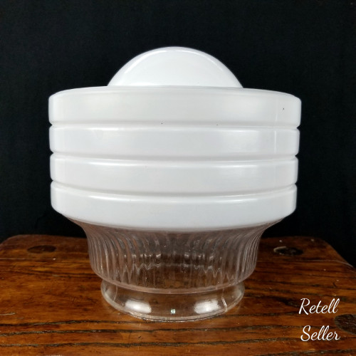 Dome Topped Art Deco Styled Glass Shade - Retell Seller
