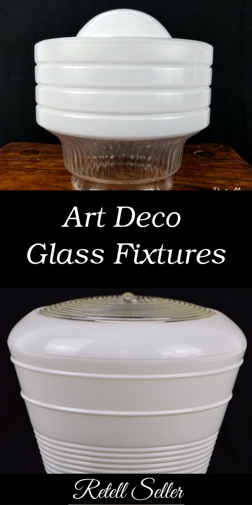 Art Deco Styled Glass Fixture Shades - Retell Seller