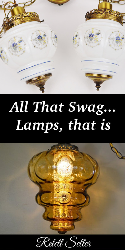Swag lamps are my favorite type of lamp. It's either because they're not permanent or just because they add so much to a corner or wall of a room. - Retell Seller