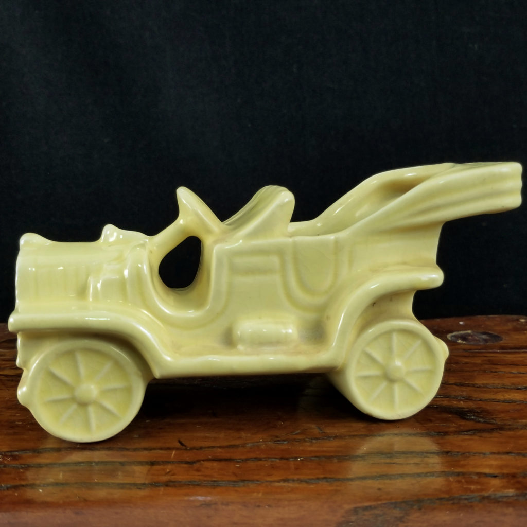 Vintage Pottery Yellow Ford Model T Convertible Car - Retell Seller