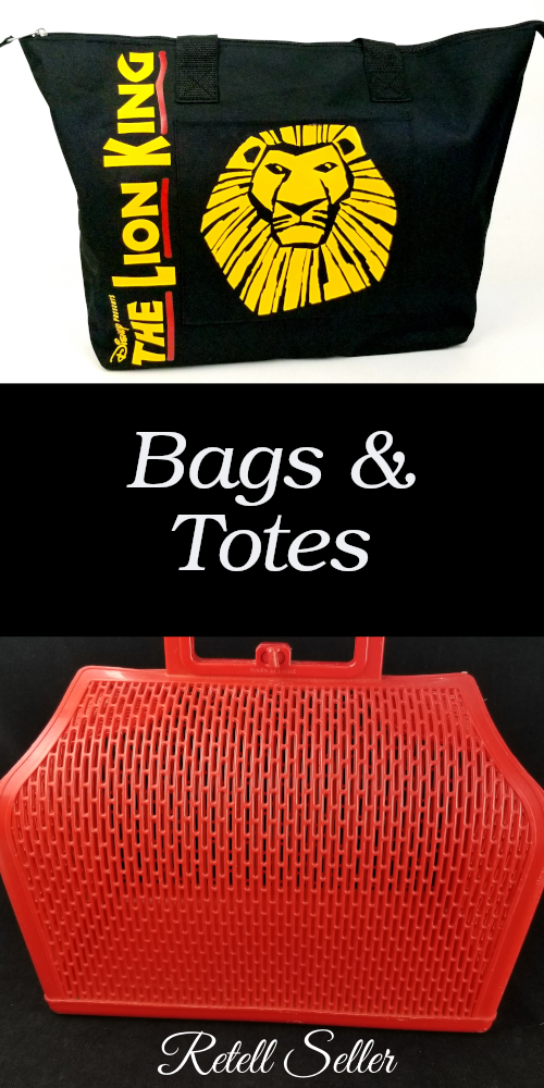 Bags & Totes, new and old, can be found in my Ebay & Etsy stores -Retell Seller