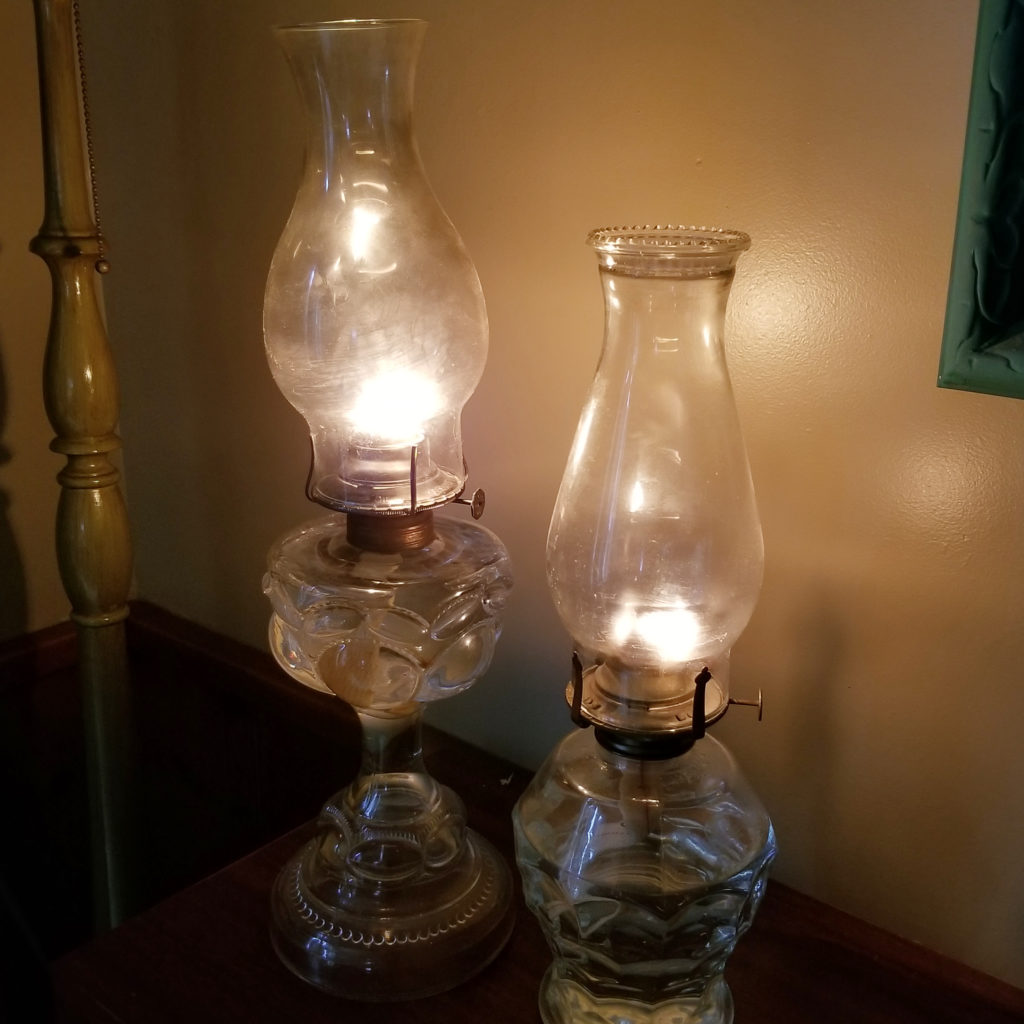 A couple of our oil lamps